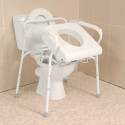 Siège de toilettes releveur avec accoudoirs