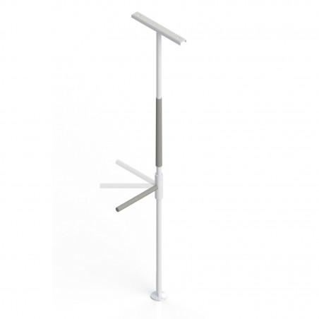 Barre d'appui verticale avec poignée pivotante Superbar™