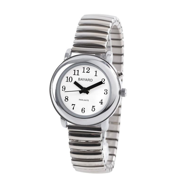 Montre parlante femme Bayard bracelet extensible