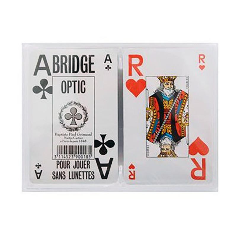 Lot de 2 jeux de 54 cartes pour malvoyants avec index géants