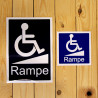 Sticker PMR pour appel rampe d'accès
