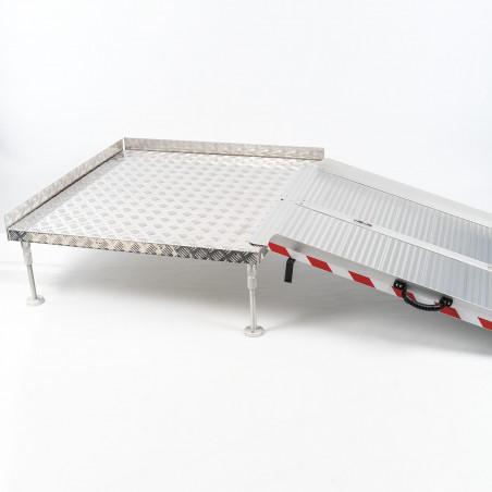 Plateforme d'accès réglable en aluminium