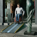 Rampe d'accès ultra légère fibre de verre Stepless