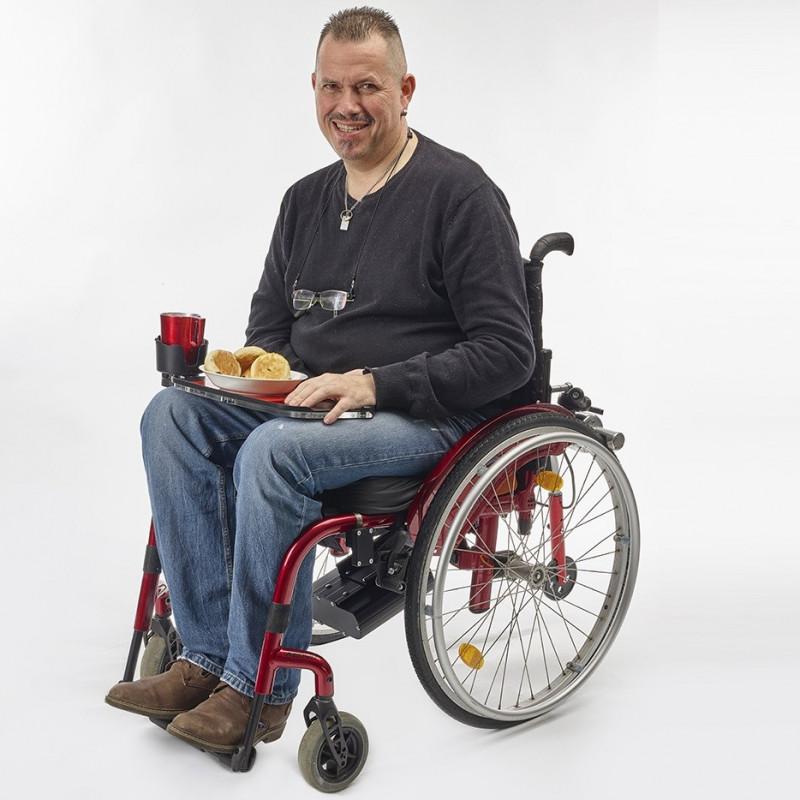 Tablette multi usages Acti'Tab pour fauteuil roulant