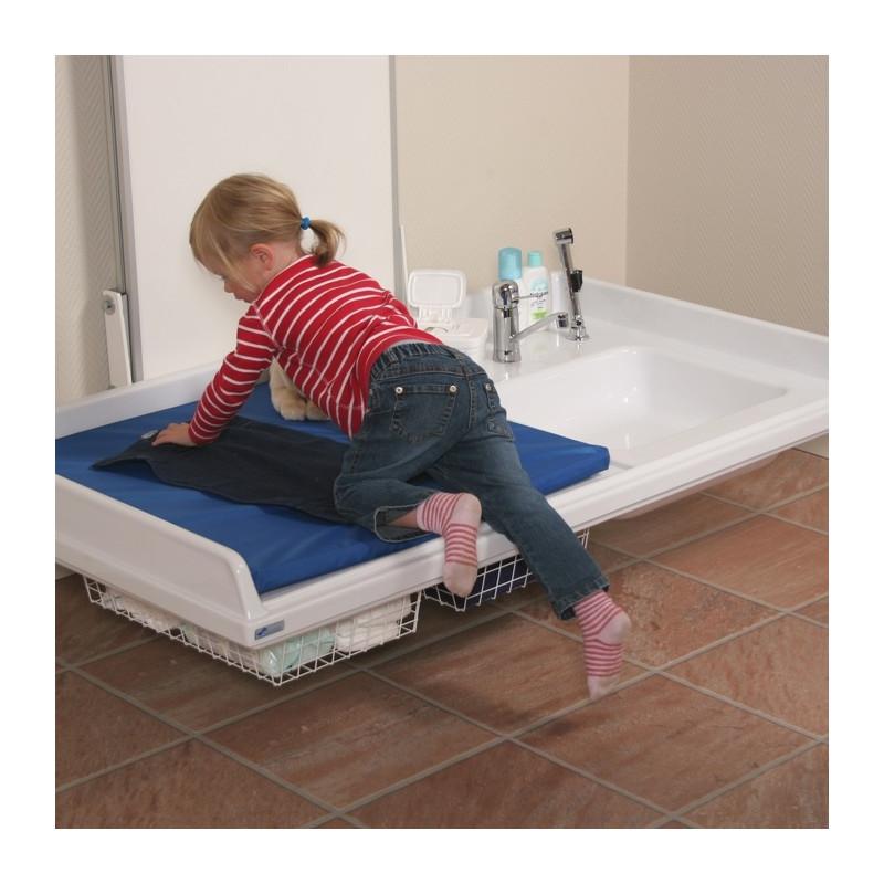 Table à langer murale à hauteur variable électrique avec lavabo Granberg 334