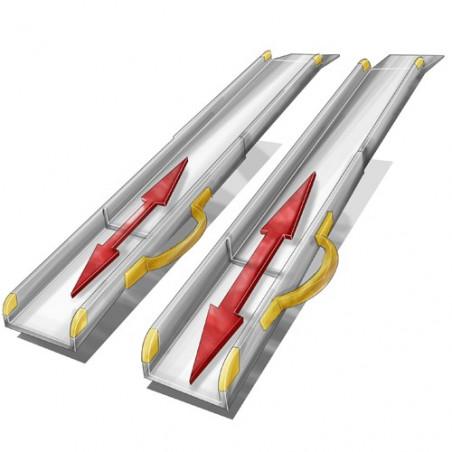 Paire de rampes d'accès télescopiques éco longues