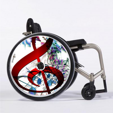 Flasque fauteuil roulant Clé de sol