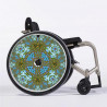 Flasque fauteuil roulant modèle Ornement bleu