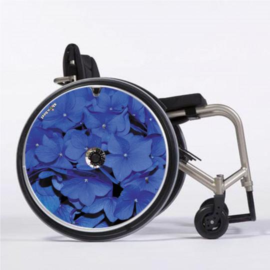Flasque fauteuil roulant modèle Hortensia bleu