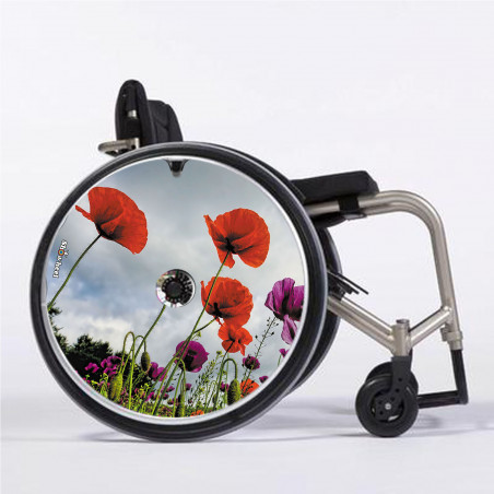 Flasque fauteuil roulant Coquelicot