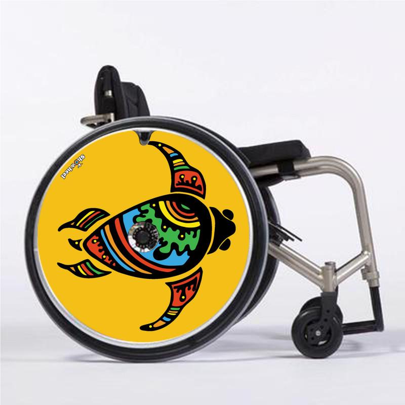 Flasque fauteuil roulant modèle Yellow turtle