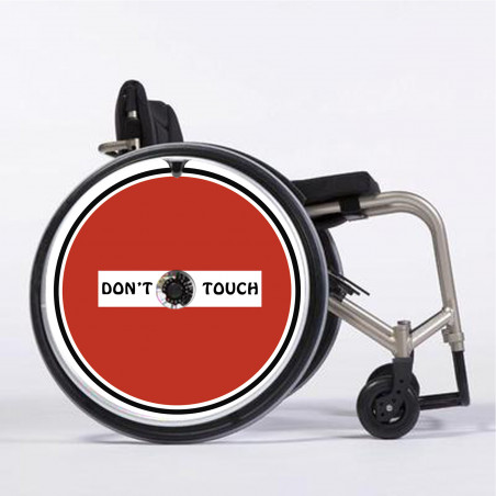 Flasque fauteuil roulant Don't touch