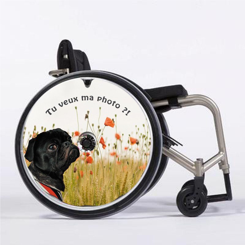 Flasque fauteuil roulant modèle Tu veux ma photo !