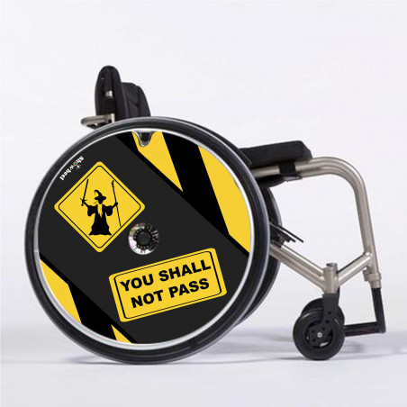 Flasque fauteuil roulant You shall not pass