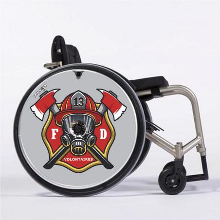 Flasque fauteuil roulant Panda rose