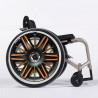 Flasque fauteuil roulant modèle Enjoliveur metal orangé