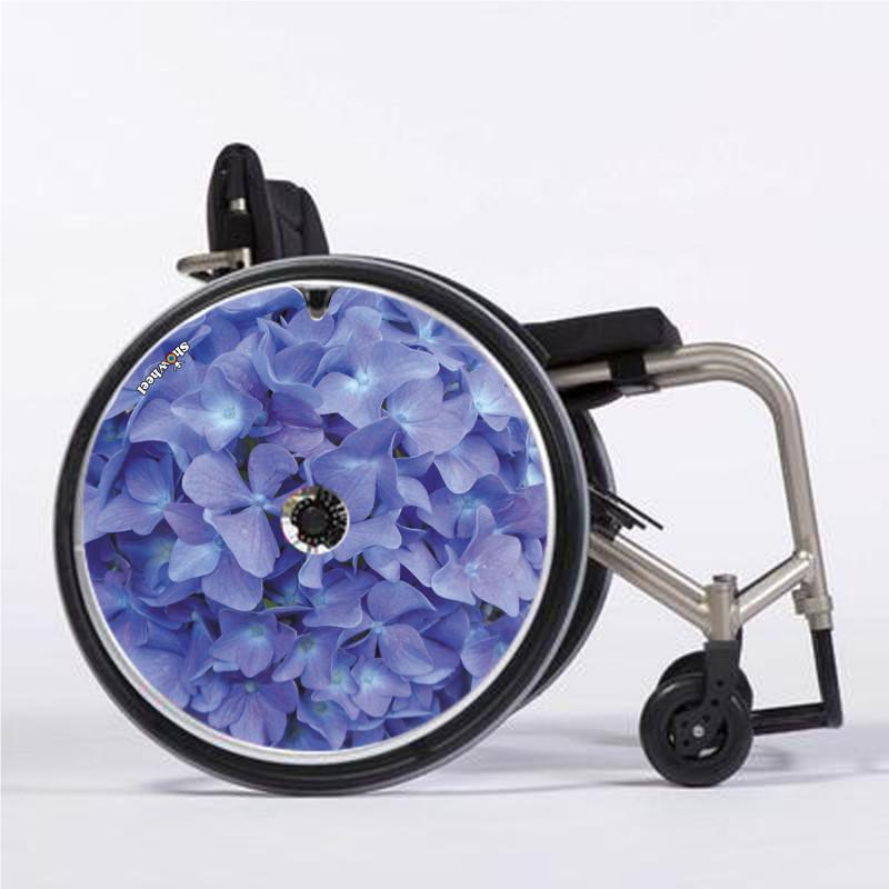 Flasque fauteuil roulant modèle Hortensia ciel
