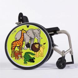 Flasque fauteuil roulant modèle Animaux d' Afrique