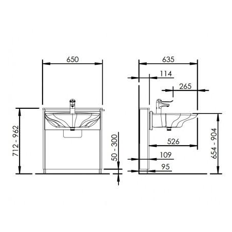 Elevateur de lavabo Designline 415