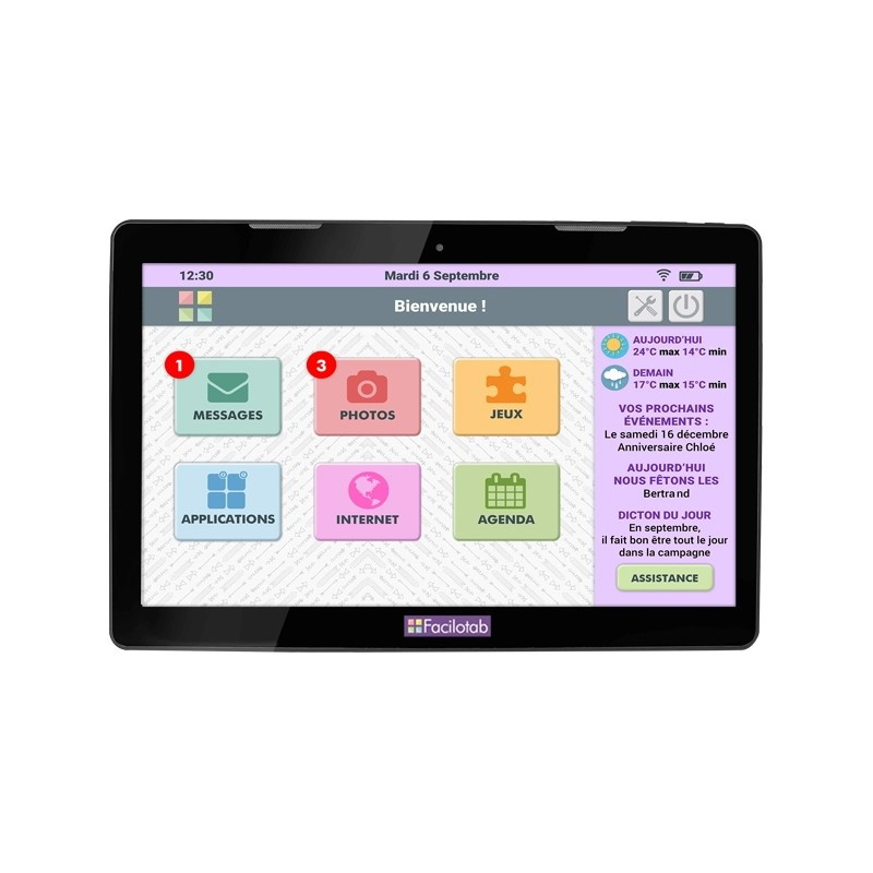 Tablette tactile senior Facilotab XXL WIFI