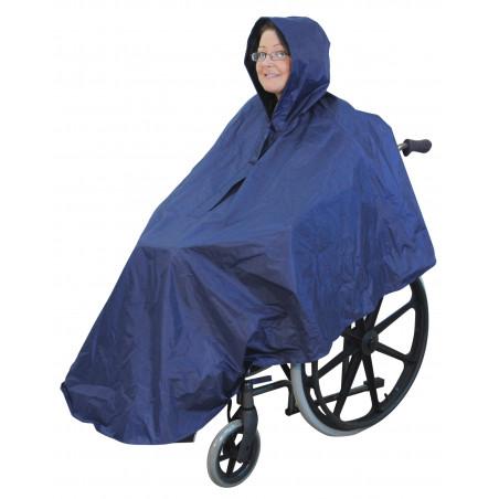 Poncho imperméable pour fauteuil roulant