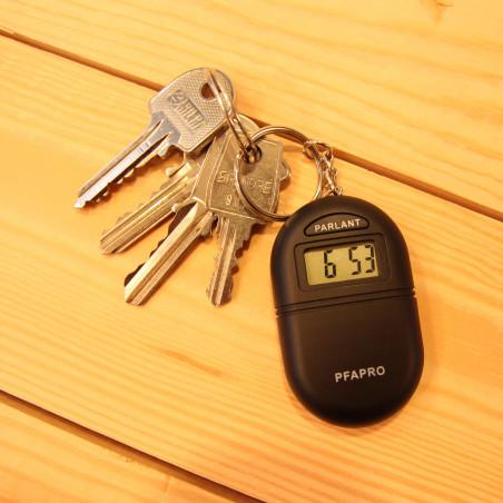 Porte-clé parlant avec horloge