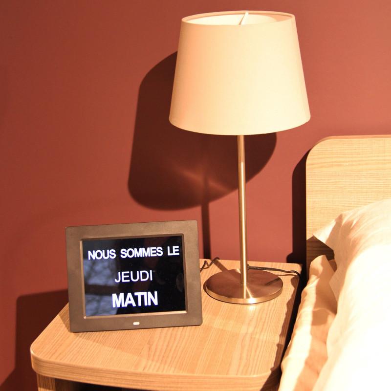 Horloge Calendrier Numérique Date Jour/Nuit Heure