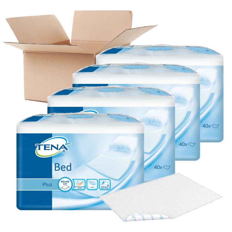 Lot de 4 paquets TENA Bed - Alèses jetables 40 x 60 cm (x160)