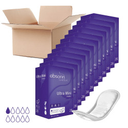 Lot de 12 paquets ABSORIN - Protections Finette Comfort Ultra Mini (x336)