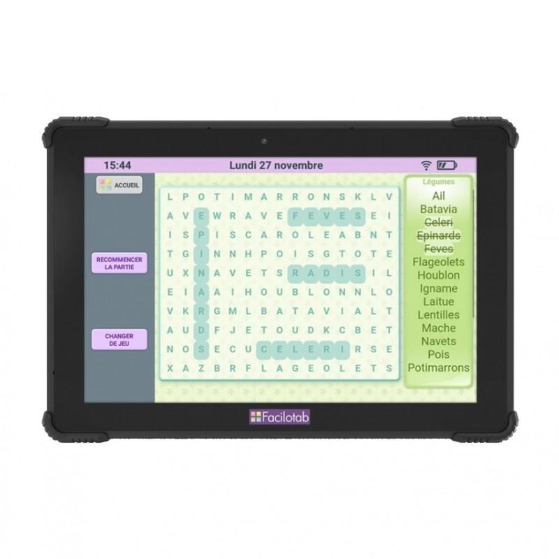 Tablette tactile senior Facilotab Onyx
