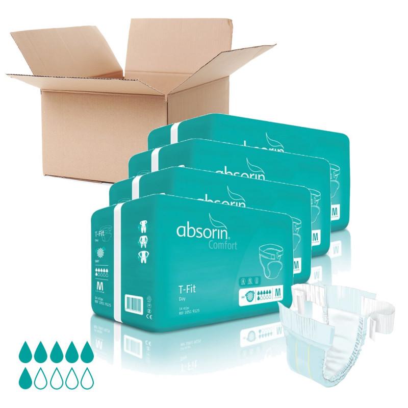 Lot de 4 paquets ABSORIN - T-Fit Jour Taille M (x60)