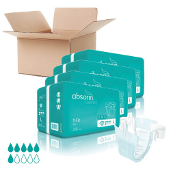 Lot de 4 paquets ABSORIN - T-Fit Jour Taille L (x60)