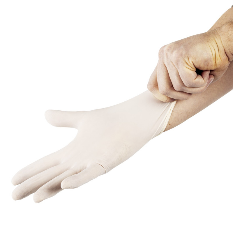 Gants en latex jetables - Lot de 100