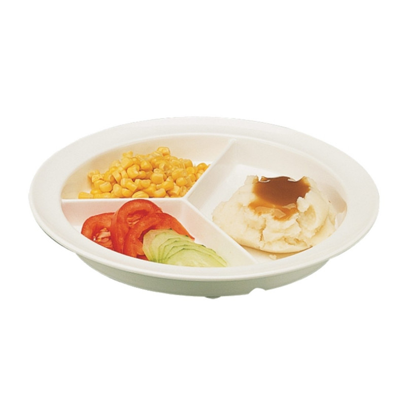 Assiette compartiment avec rebord