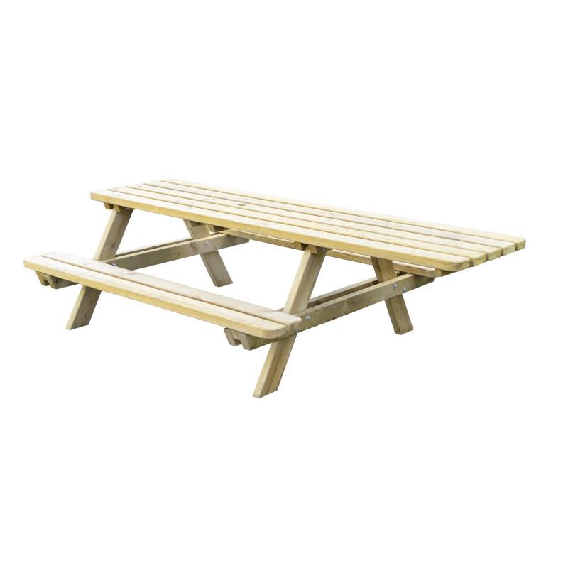 Table de pique-nique en bois autoclave PMR