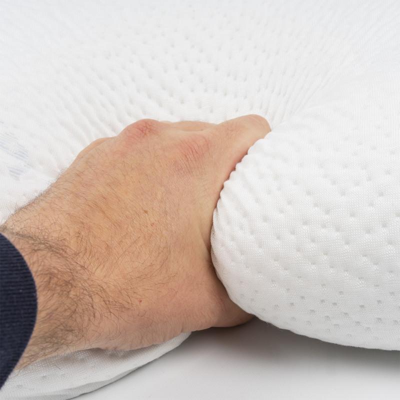 Oreiller en mousse viscoélastique pour lit rotatif