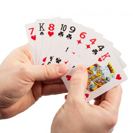 Jeu de 54 cartes à gros caractères pour malvoyant
