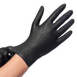 Gants noirs en nitrile non poudrés (x100)