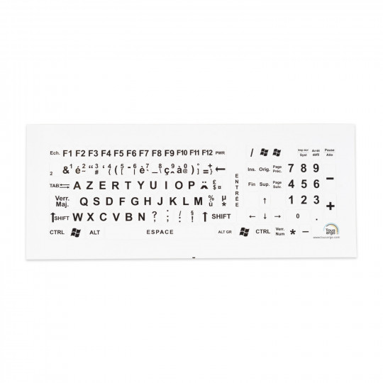 Lettres géantes pour clavier d'ordinateur