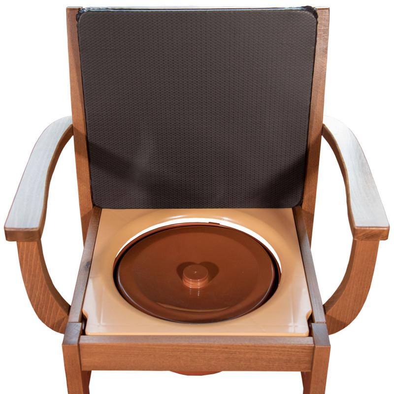 Chaise percée en bois Nordencare