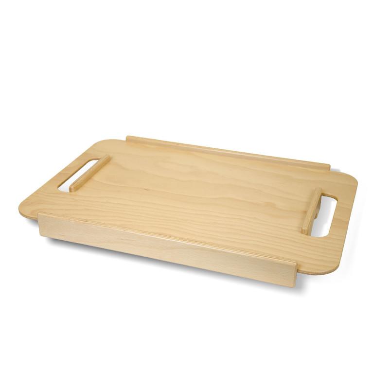 Plateau desserte en bois pour déambulateur d'intérieur Page
