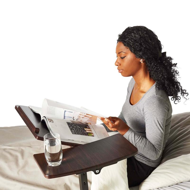 Table de lit - réglable et inclinable