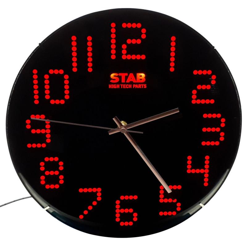 Horloge ronde LED rouge