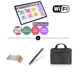 PACK SAMSUNG - Facilotab L Galaxy - WiFi + Support + Housse + Stylet