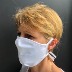 Masque tissu lavable à nouer anti-projections