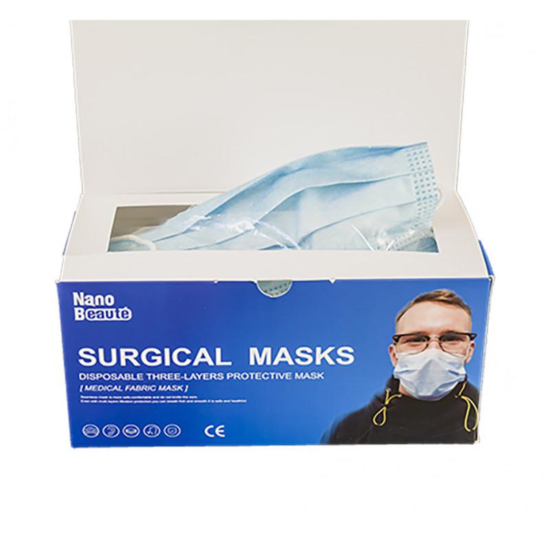 Masque chirurgical 3 plis Type I jetable avec élastiques