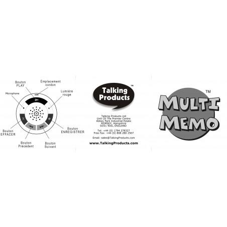 Enregistreur vocal Multi-Memo / 6 minutes