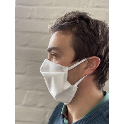 Masque tissu à plis à élastiques UNS1 lavable 10 fois