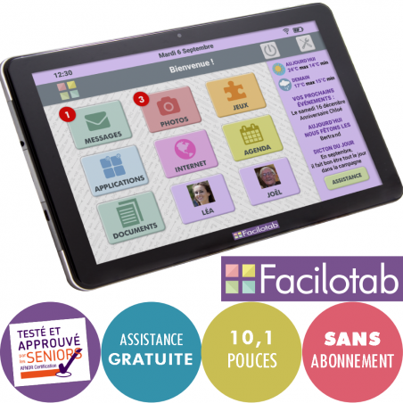 Tablette tactile senior Facilotab L