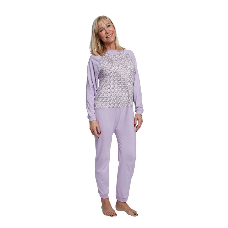 Pyjama grenouillère long à carreaux pour adulte Benefactor